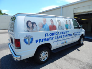 Custom Commercial Van Wrap Florida Family Care