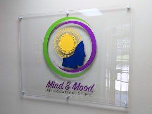 Custom acrylic wall sign